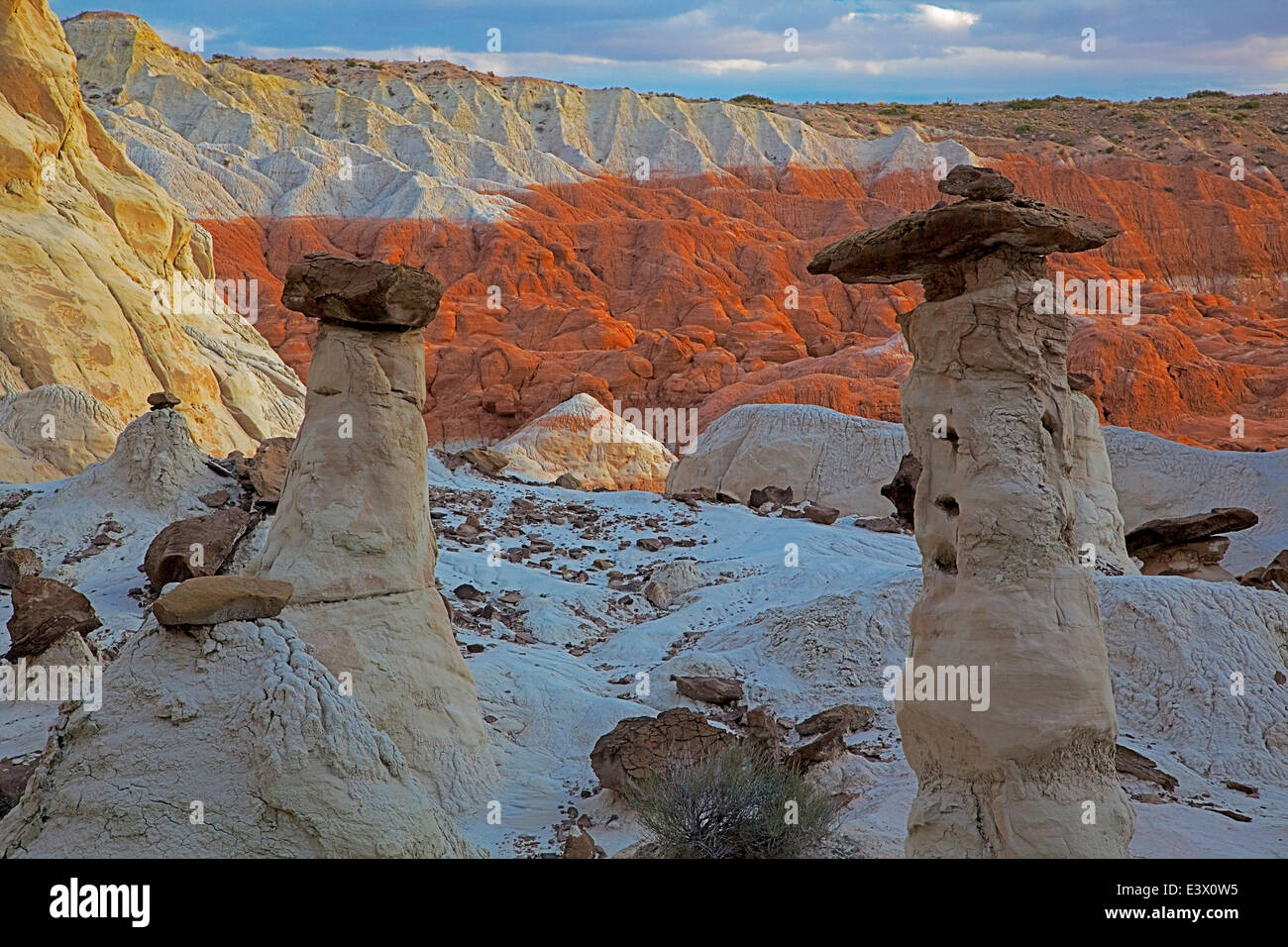 USA, Utah, Grand Staircase Escalante-National Monument, Toadstool Rocks Stock Photo