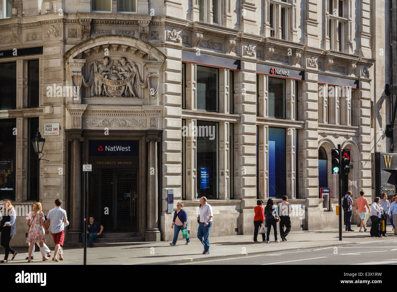 NatWest Bank Piccadilly Branch London SW1 - Stock Image