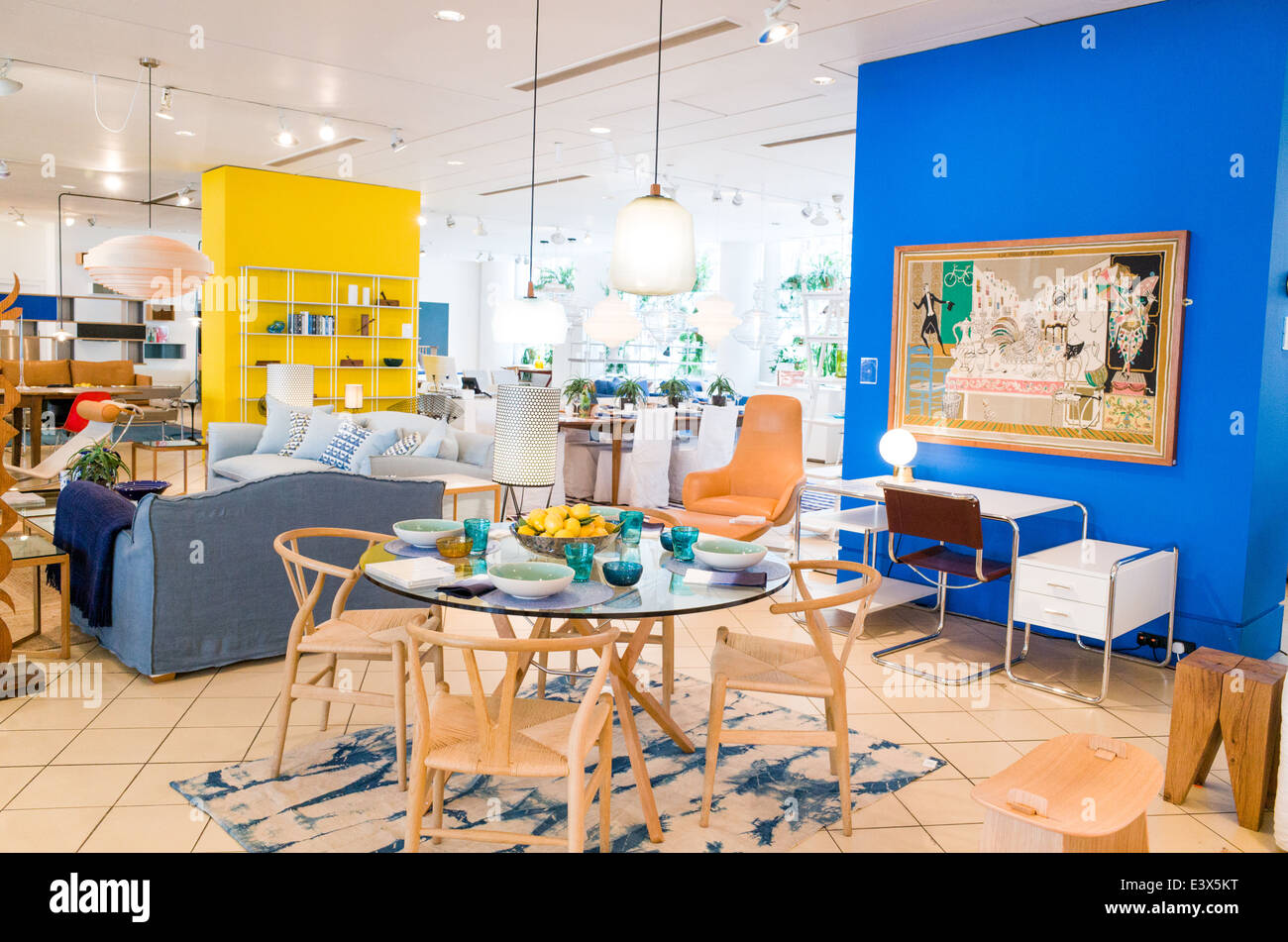 designer furniture on display in the conran shop on sloane avenue