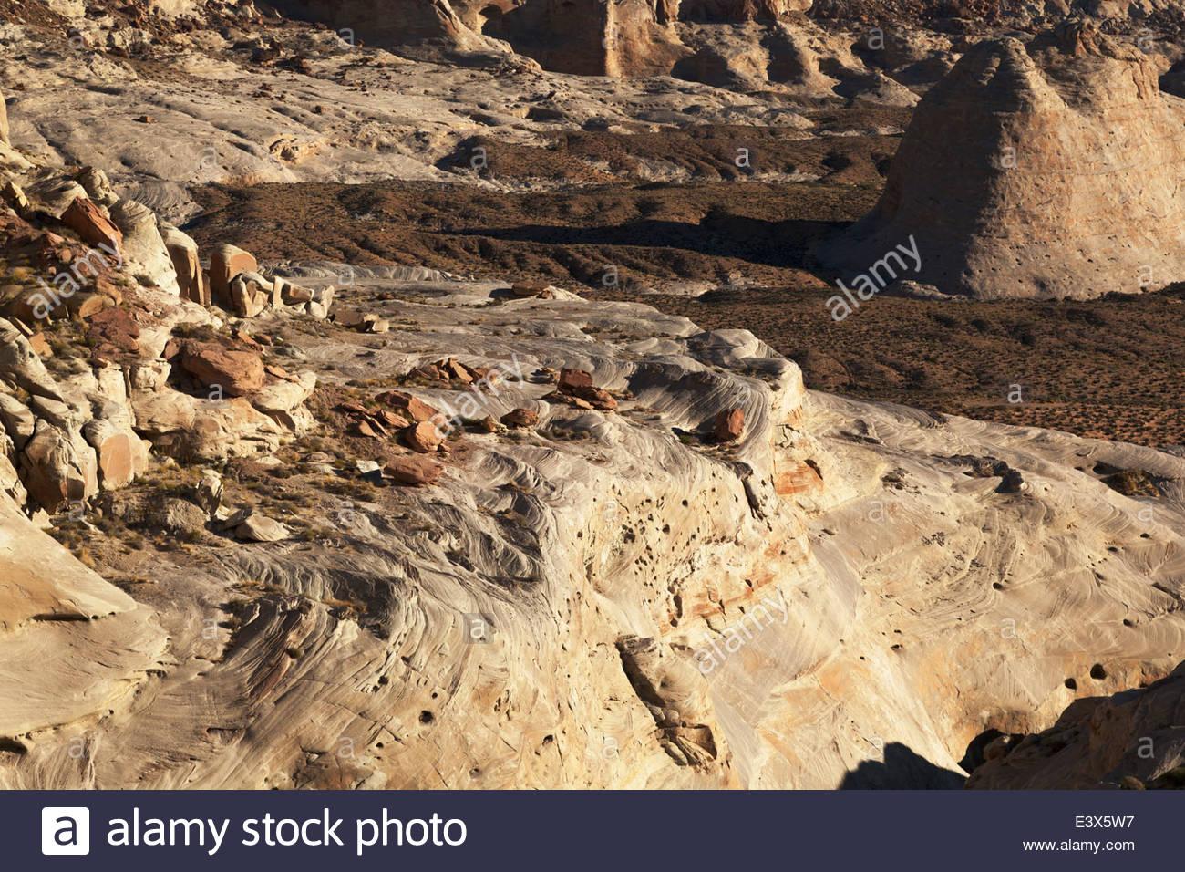 Swirls in Sandstone near Stud Horse Point northern Arizona - Stock Image