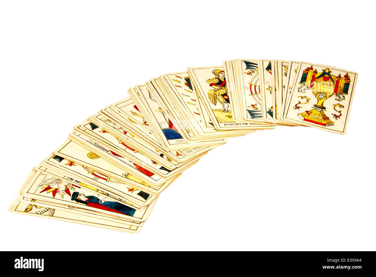deck of tarot cards for fortune telling - Stock Image