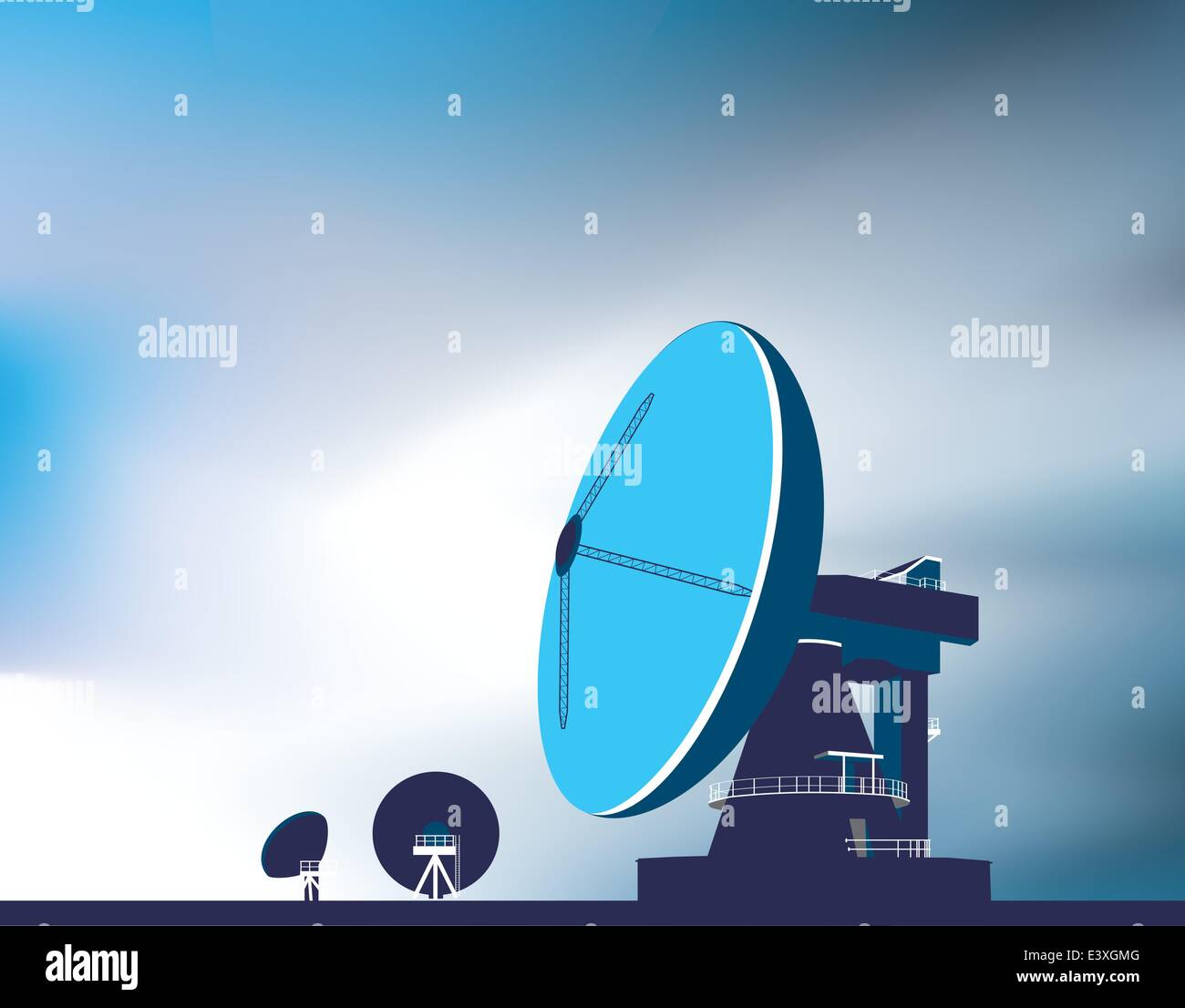 old satellite dishes stock vector images alamy