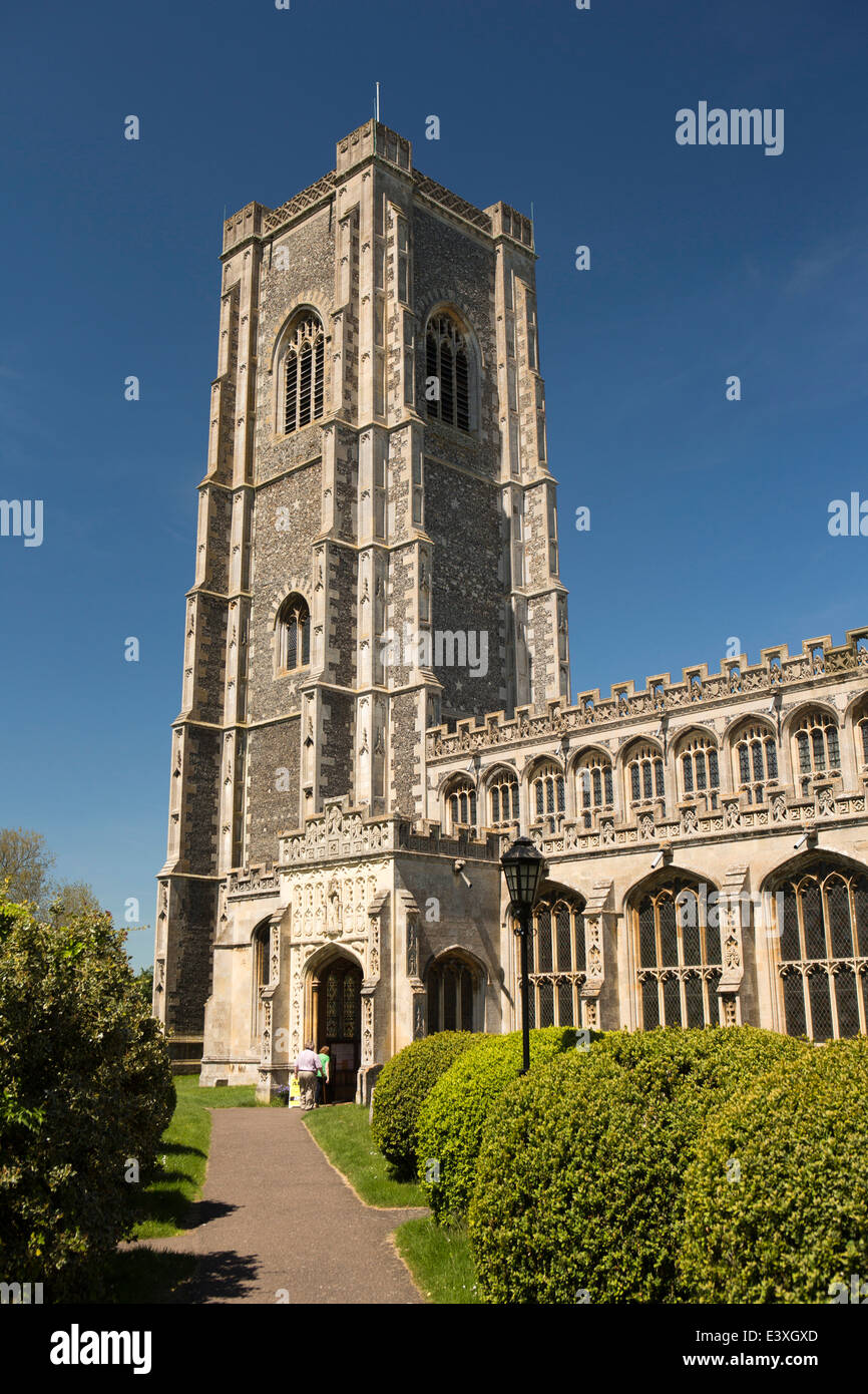 UK England, Suffolk, Lavenham, Parish Church of St Peter and St Paul - Stock Image