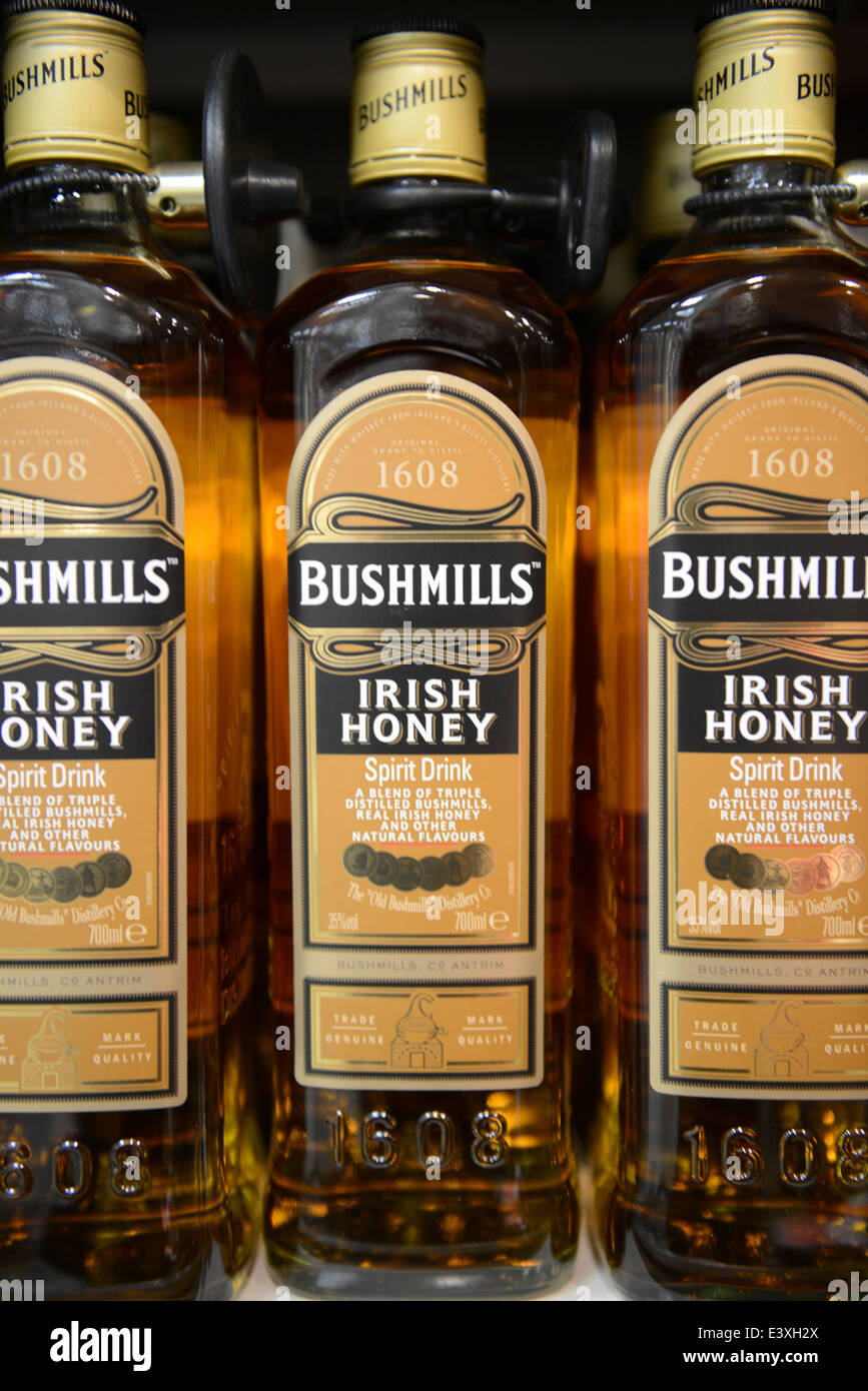 Bushmills Irish Honey Whiskey - Stock Image