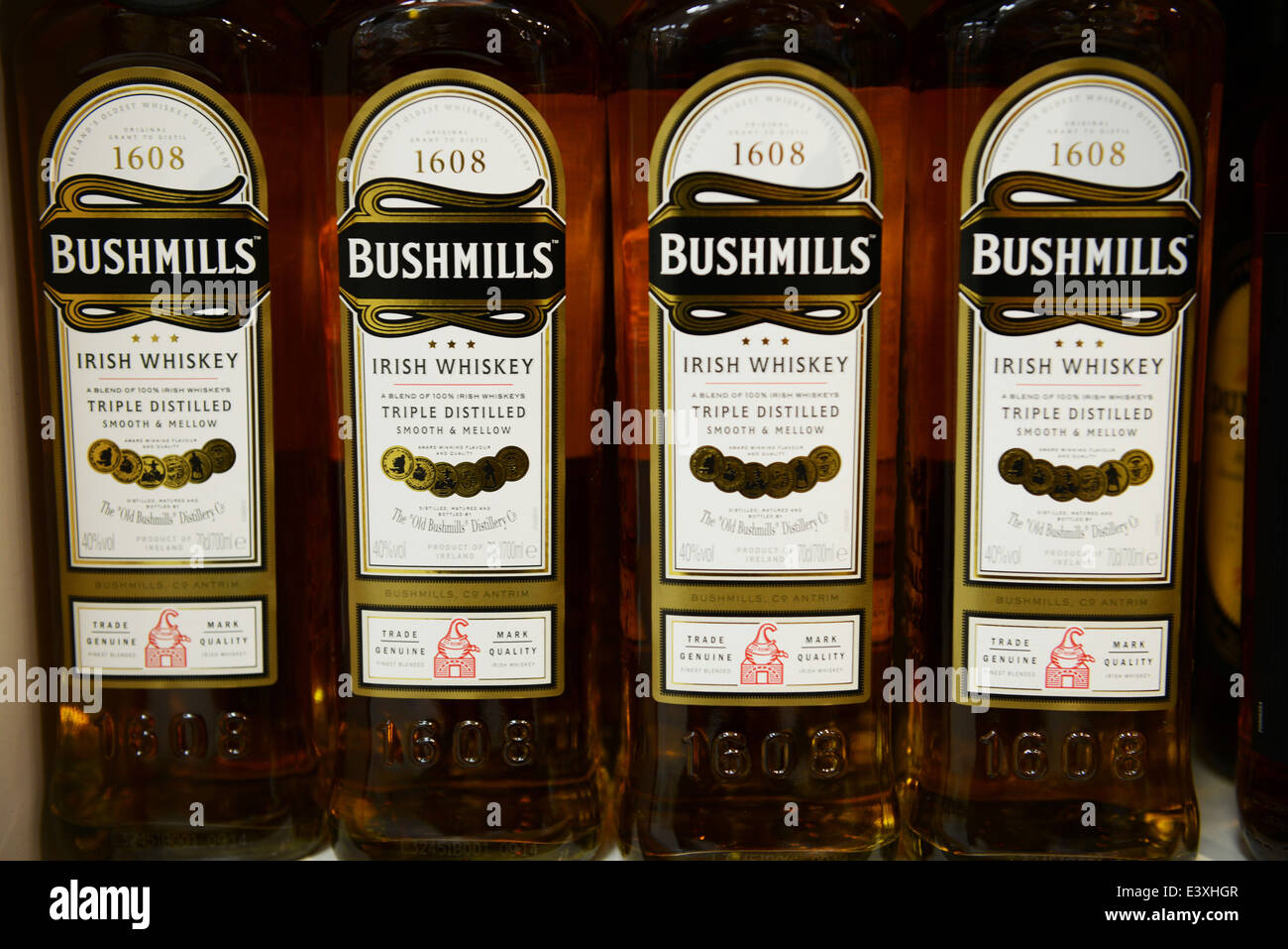 Bushmills Irish Whiskey - Stock Image