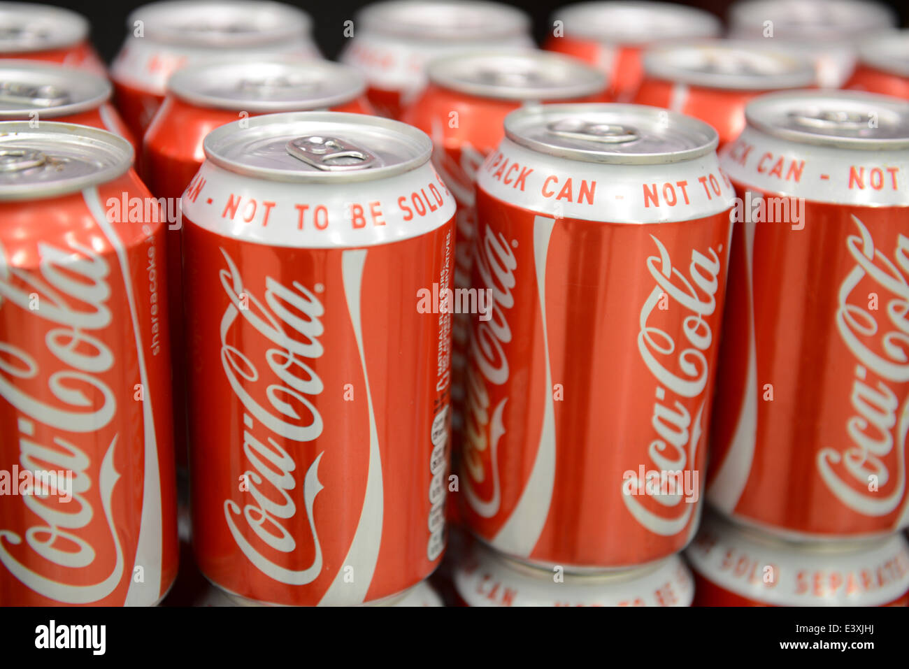 Coca Cola Multipack Cans - Stock Image