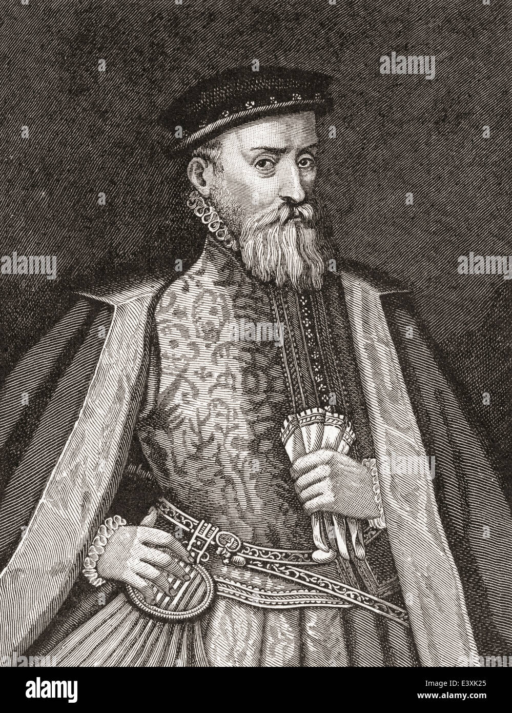 Sir Thomas Gresham, c. 1519 –1579, aka Thomas Gresham the Elder. English merchant and financier. Stock Photo
