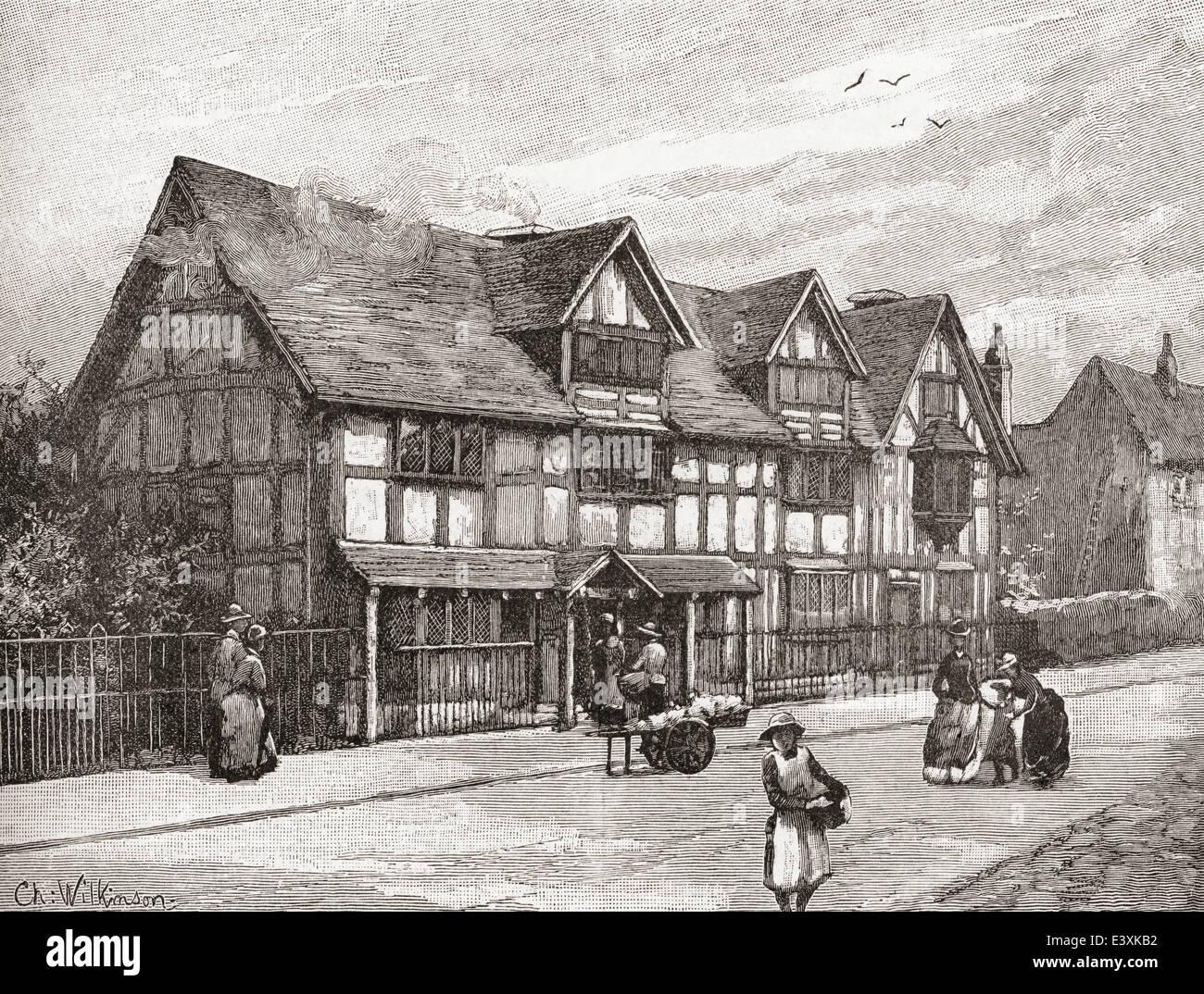 Shakespeares Birthplace Henley Street Stratford Upon Avon Warwickshire England