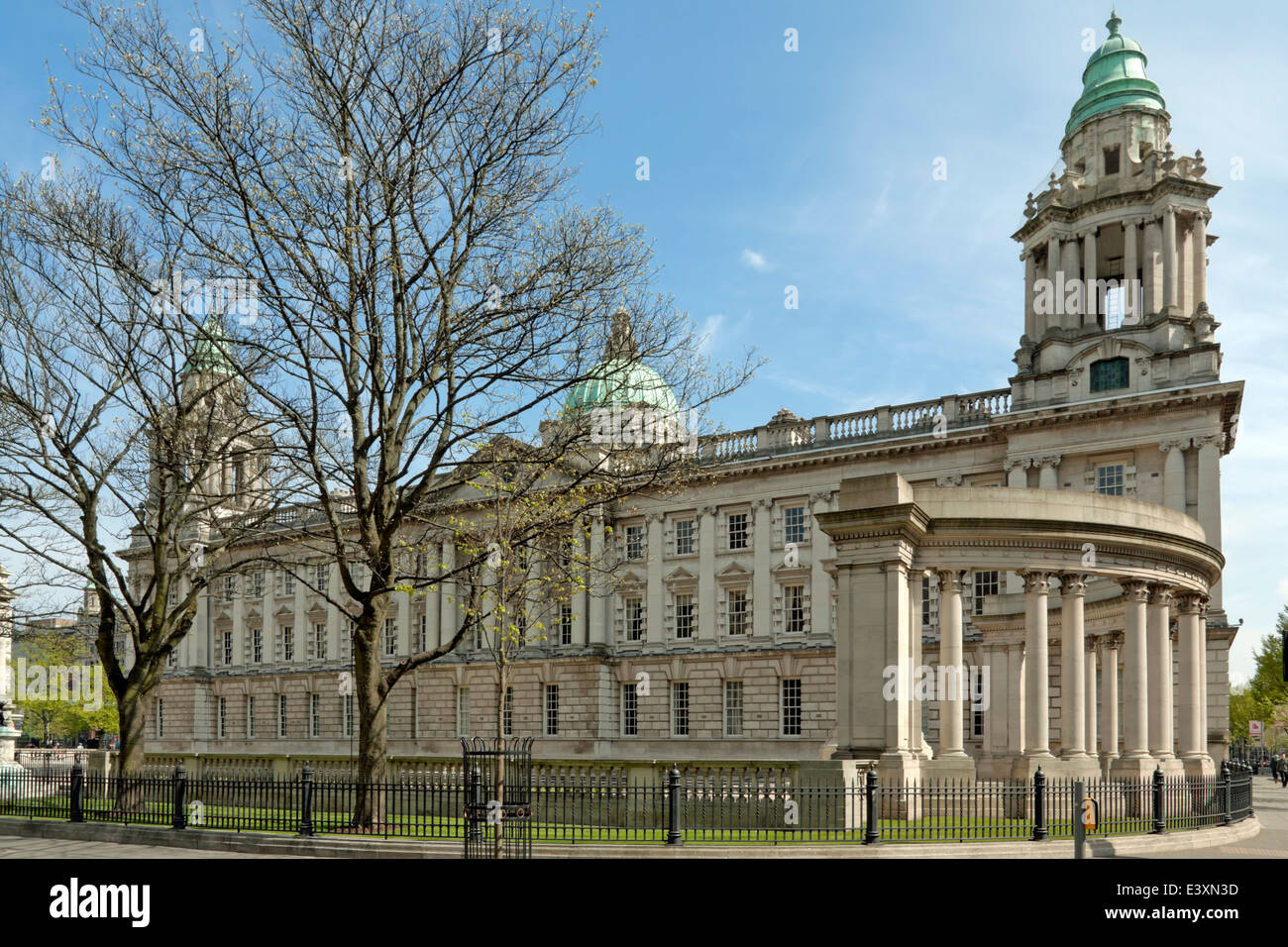 Belfast City Hall, the civic building of the Belfast City Council, Donegall Square, Belfast, County Antrim, Northern - Stock Image