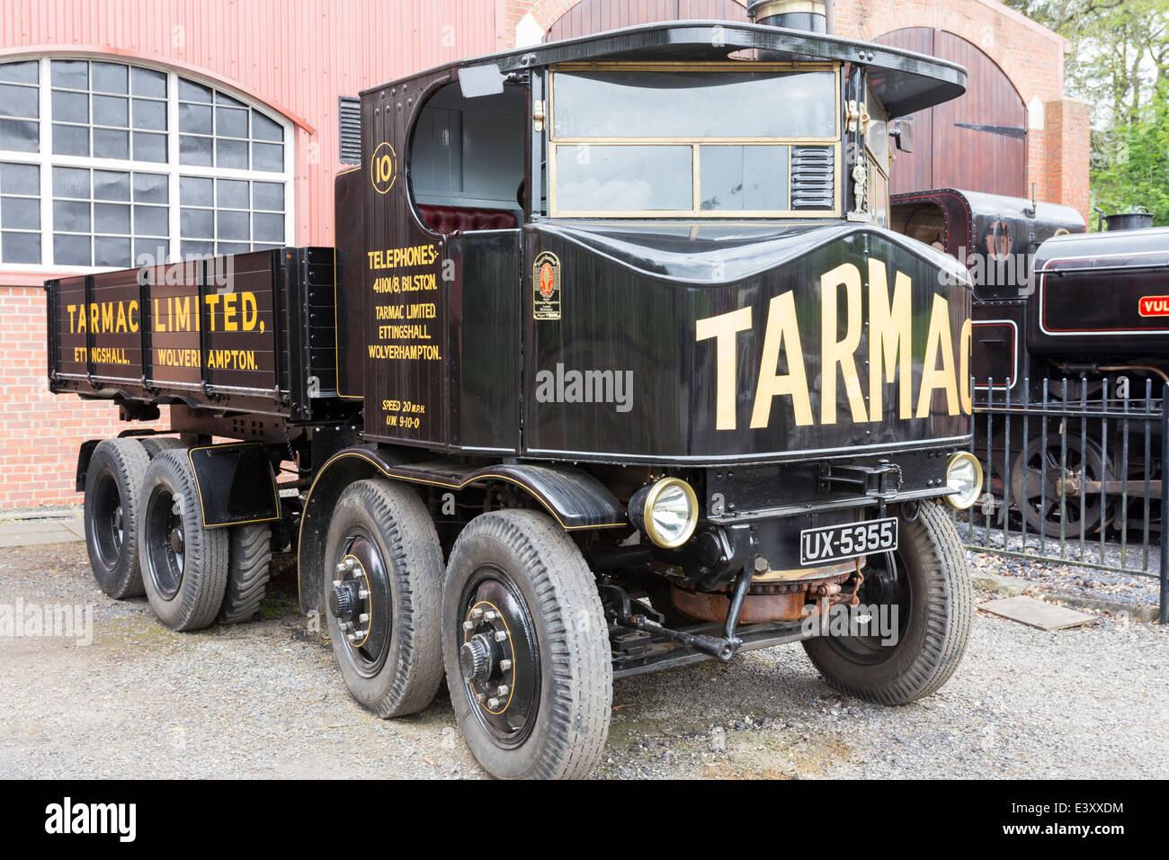 Tarmac Truck at Beamish Living Open Air Museum - Stock Image