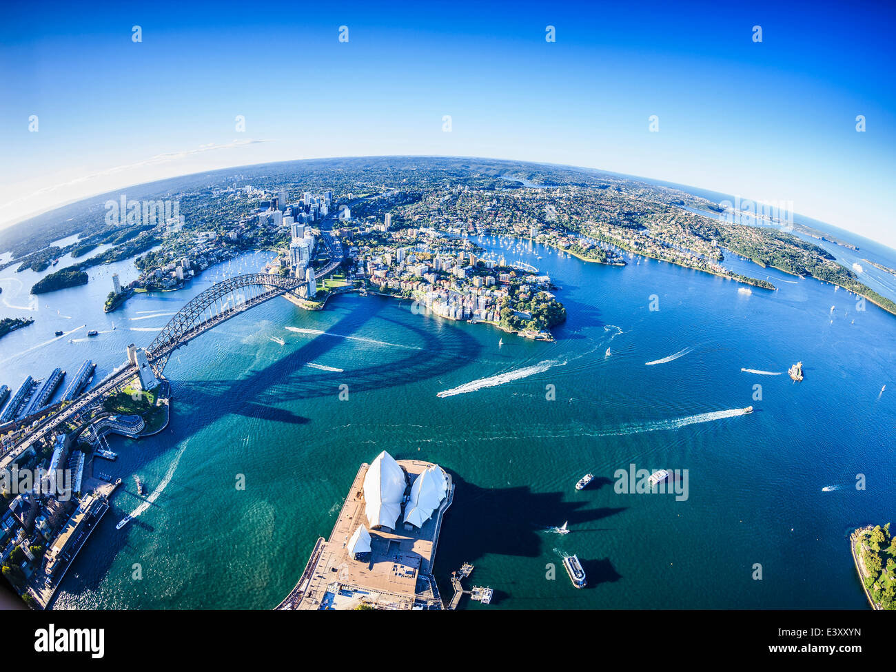Aerial view of Sydney cityscape, Sydney, New South Wales, Australia Stock Photo