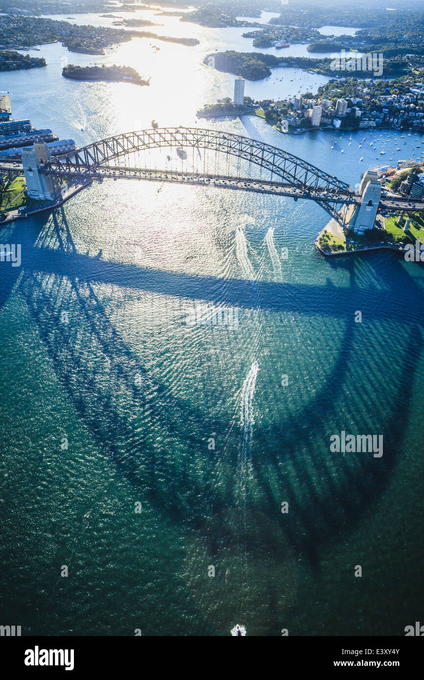 Aerial view of Sydney cityscape, Sydney, New South Wales, Australia - Stock Image