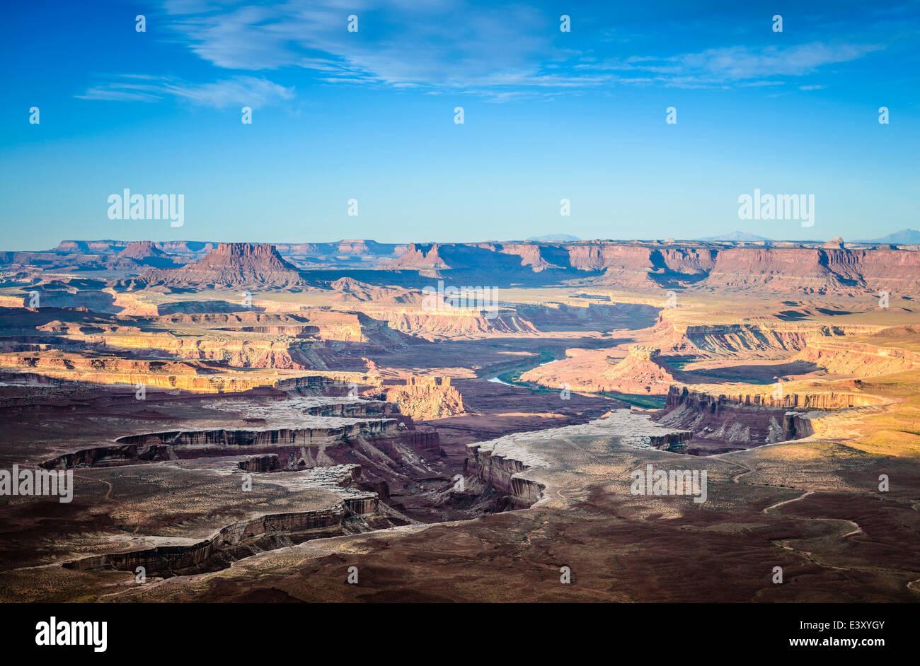 Aerial view of Horseshoe Bend, Canyonlands, Utah, United States - Stock Image