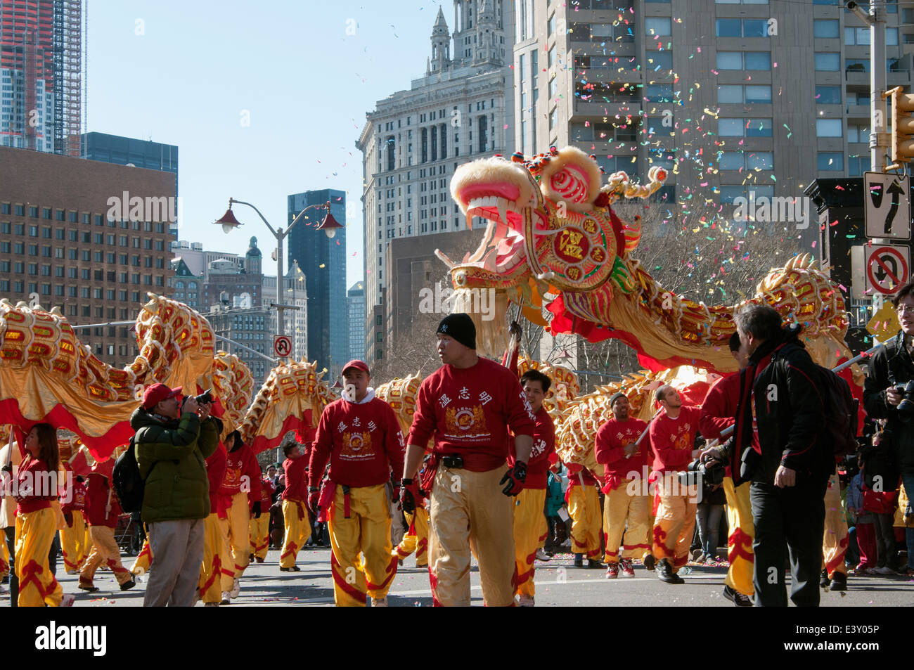 Chinese New Year New York city Chinatown. (Year of the tiger.) - Stock Image