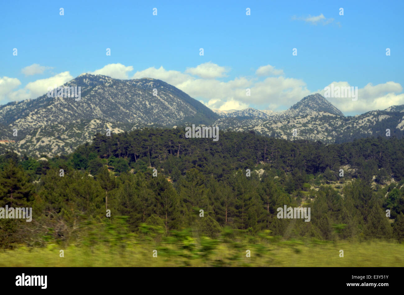 The road back from Capadoccia to Antalya is hilly. It passes Lake Sugla and goes through the town of Konya, 2nd - Stock Image