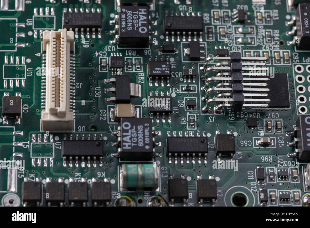 Pcb Tracks Stock Photos Images Alamy Printed Circuit Board Throughhole Technology Royalty Free Image