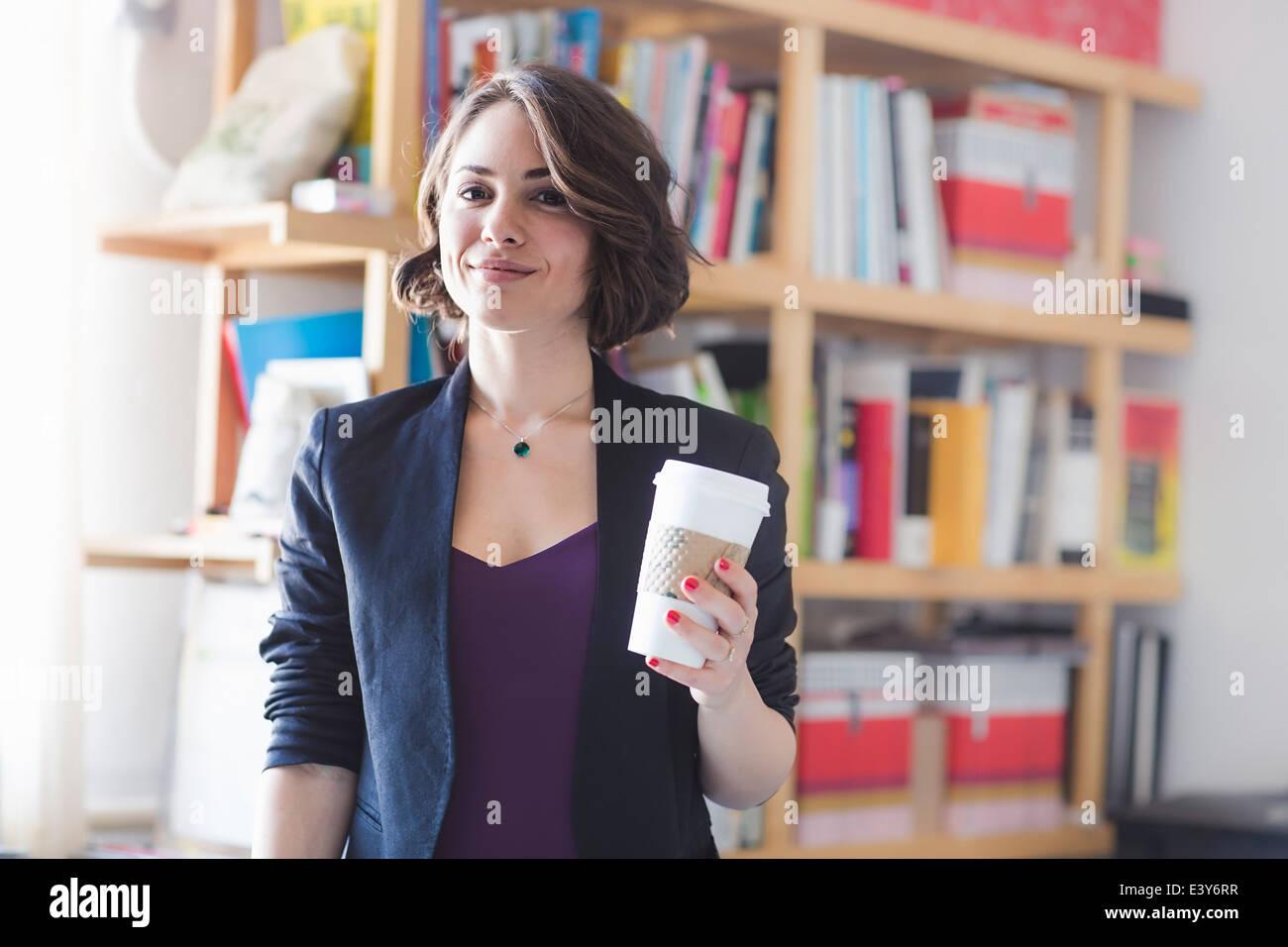 Take Break Coffeebreak : Young woman taking coffee break stock photo  alamy