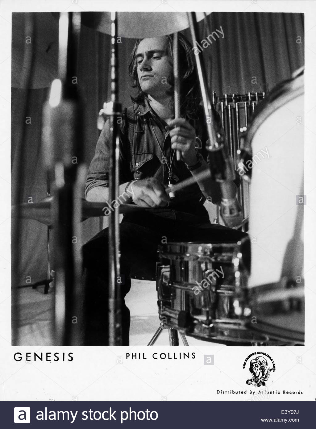 Phil Collins of Genesis, circa 1970s - Stock Image