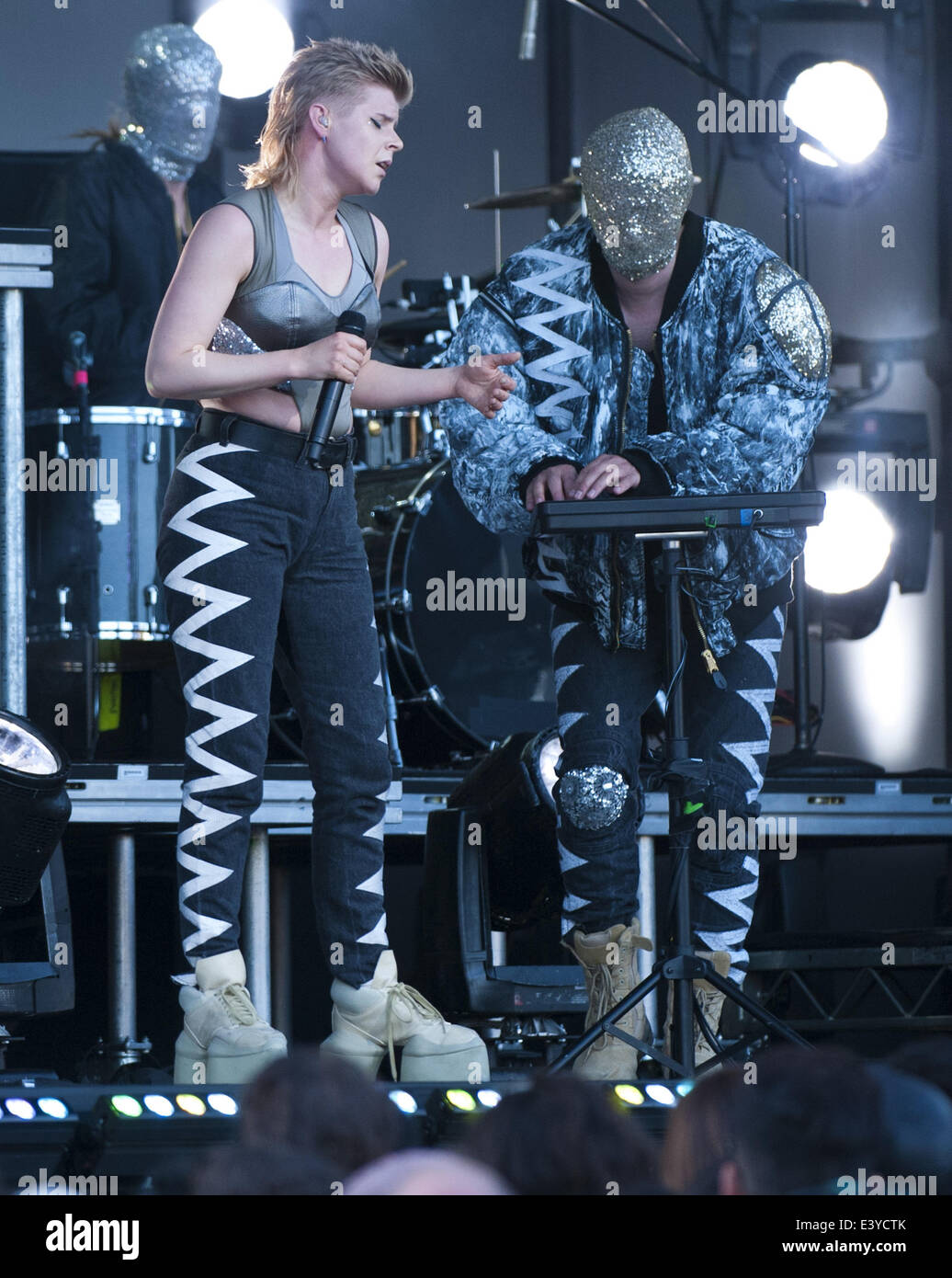 Hollywood, California, USA. 30th June, 2014. Swedish Electro Tech Pop R&B singer Robyn played with the Norwegian - Stock Image