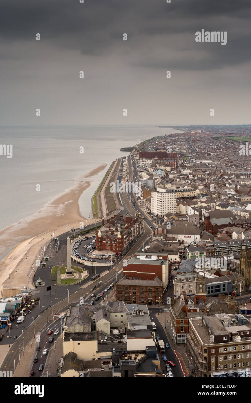 Blackpool viewed from Blackpool tower - Stock Image