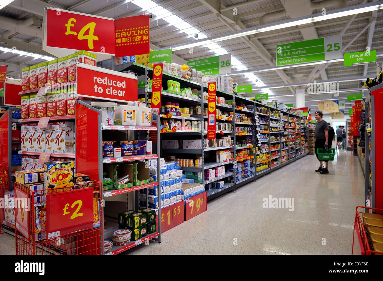 asda supermarket interior 2014 - Stock Image