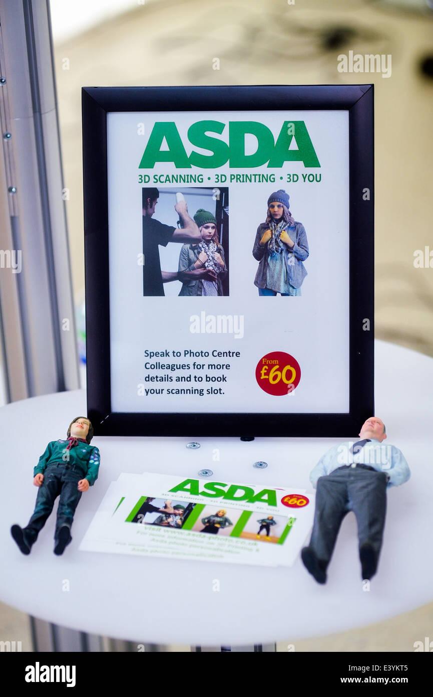 asda supermarket 3D printing service - Stock Image