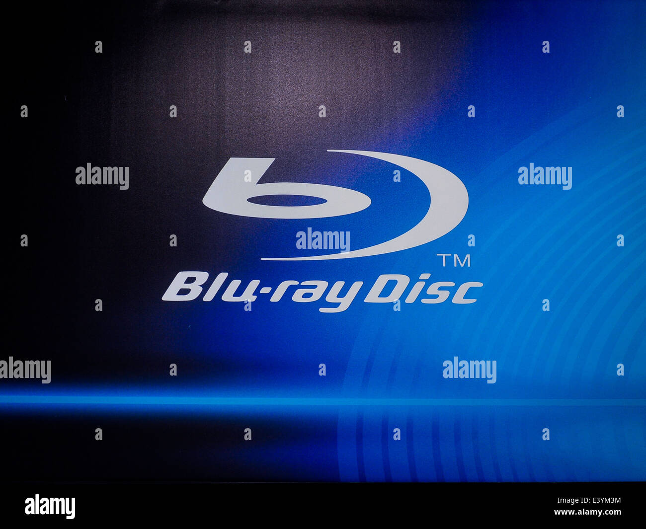 Blu Ray disc logo - Stock Image