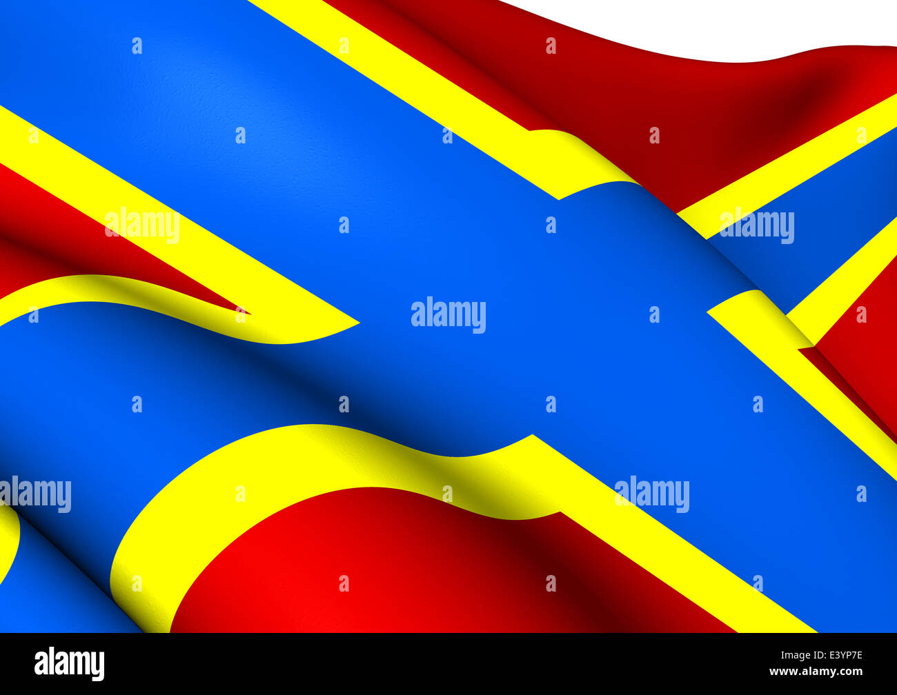 Flag of Orkney, Scotland. Close Up. Stock Photo