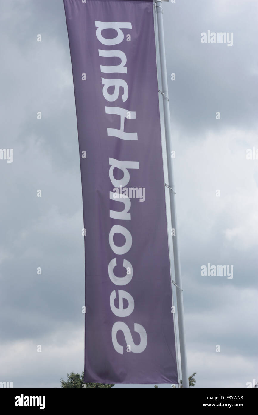 Second hand banner. - Stock Image