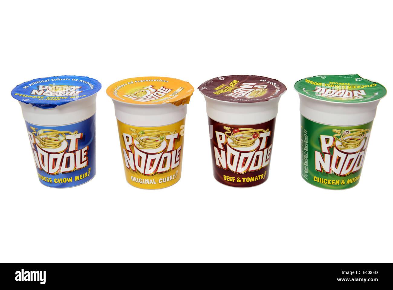 Pot Noodle Range - Stock Image
