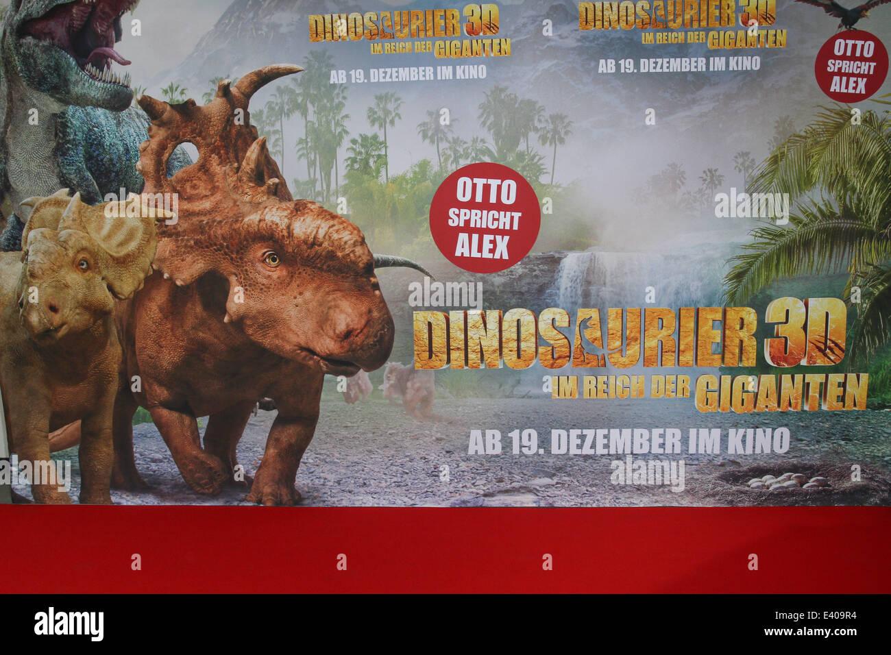 Celebrities attending the premiere of Dinosaurier 3D - Im Reich der Giganten at Cinemaxx movie theatre.  Featuring: - Stock Image