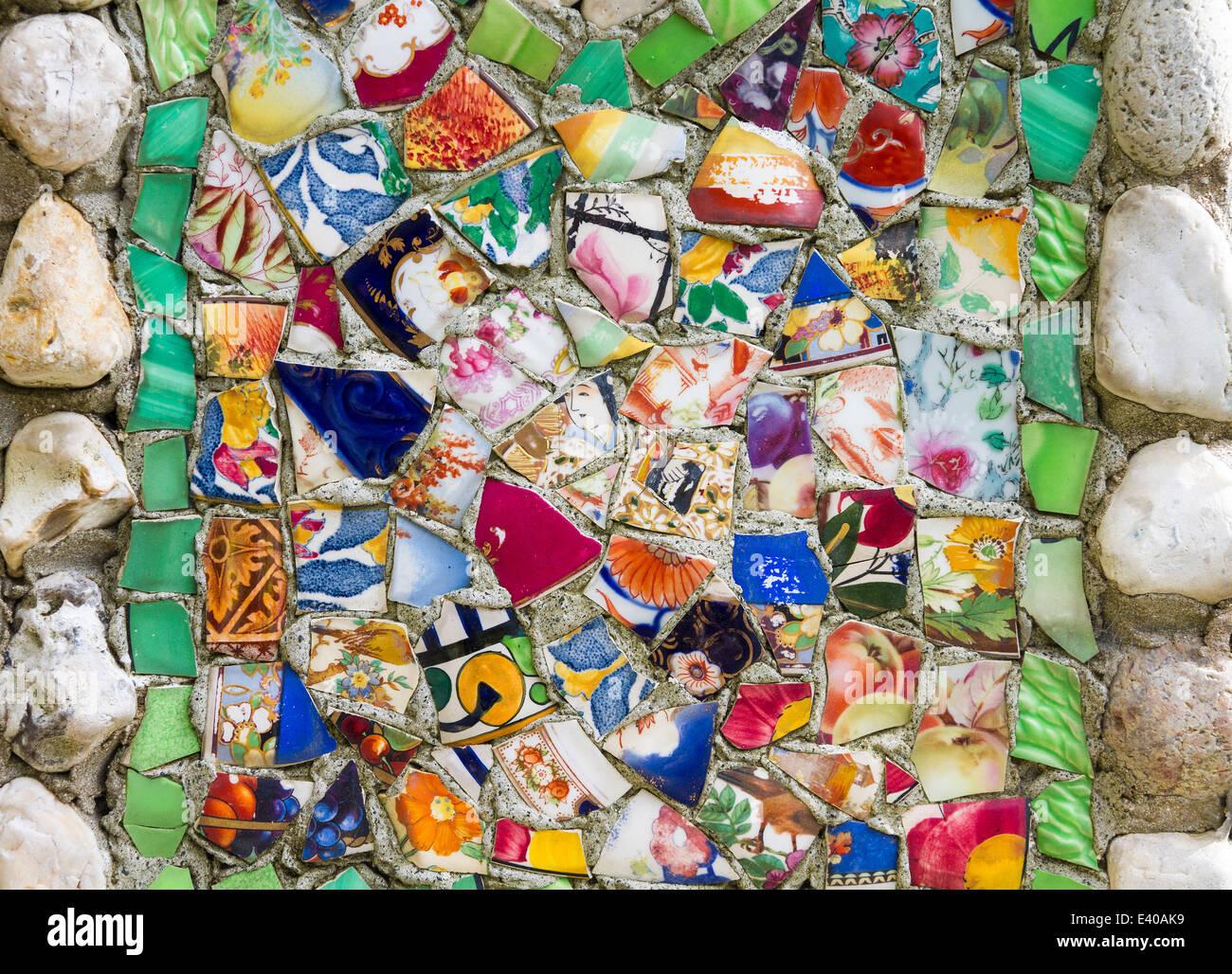 guernsey seashells pebbles colourful pieces broken Stock Photo