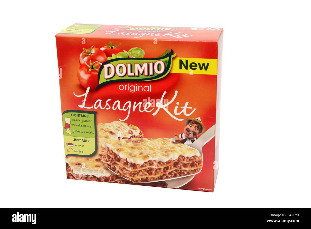 Dolmio Lasagne Kit - Stock Image