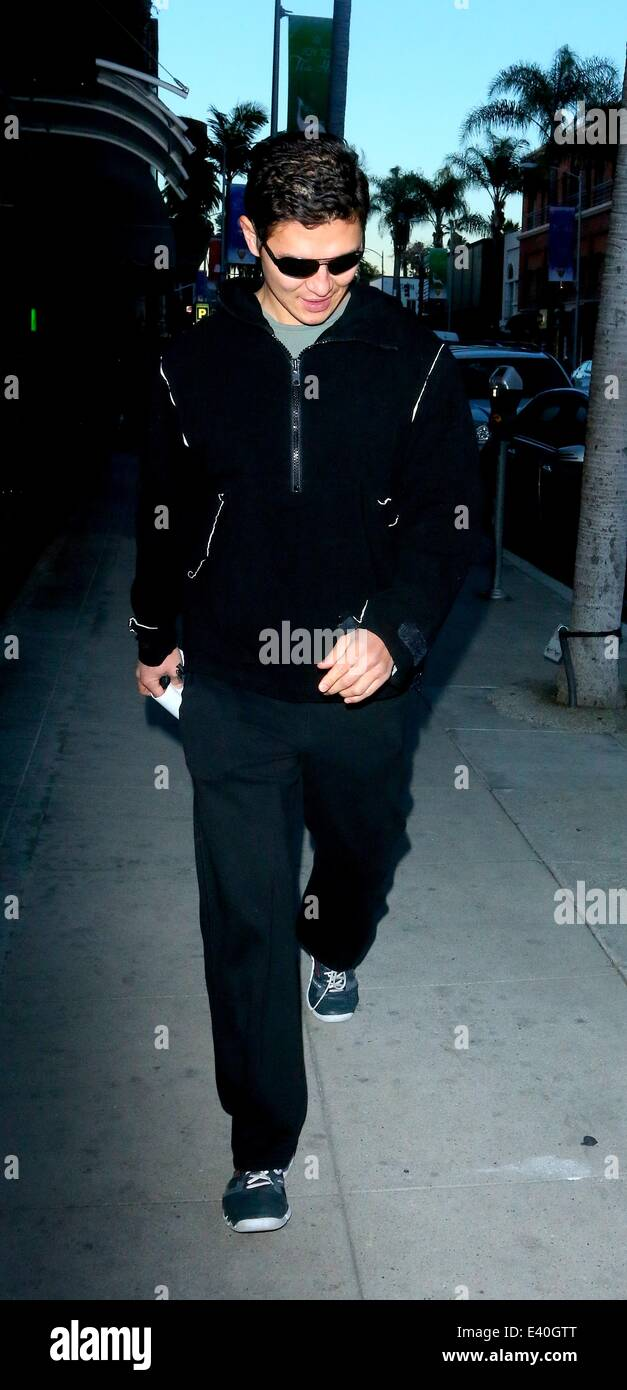 Fast and The Furious star, Rick Yune walking along on Bedford Drive in Beverly Hills  Featuring: Rick Yune Where: Stock Photo
