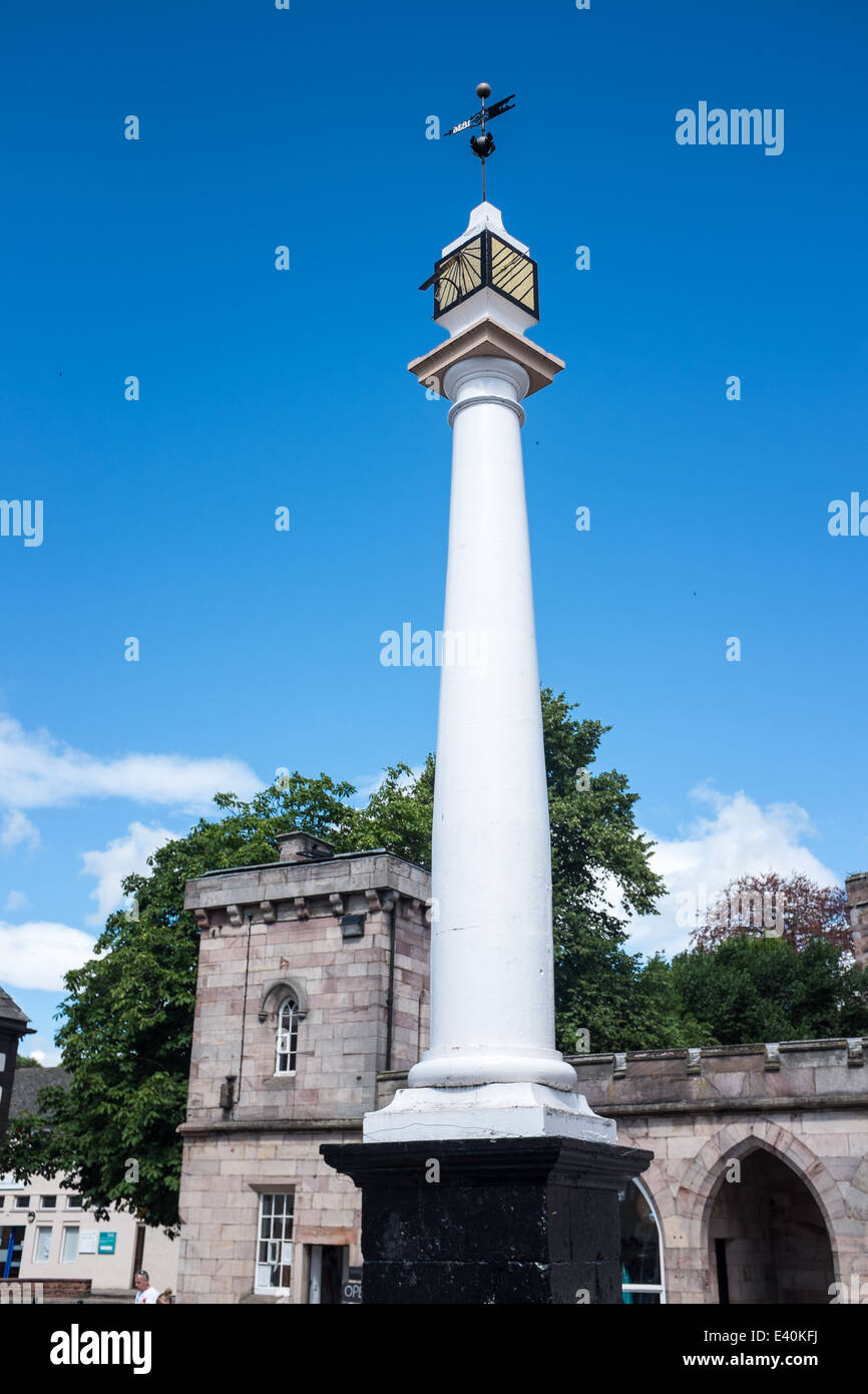 High Cross in Boroughgate, Appleby, Eden Valley, Cumbria, UK - Stock Image