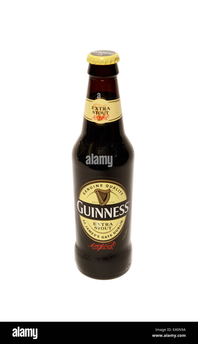 Guinness Extra Stout bottle - Stock Image