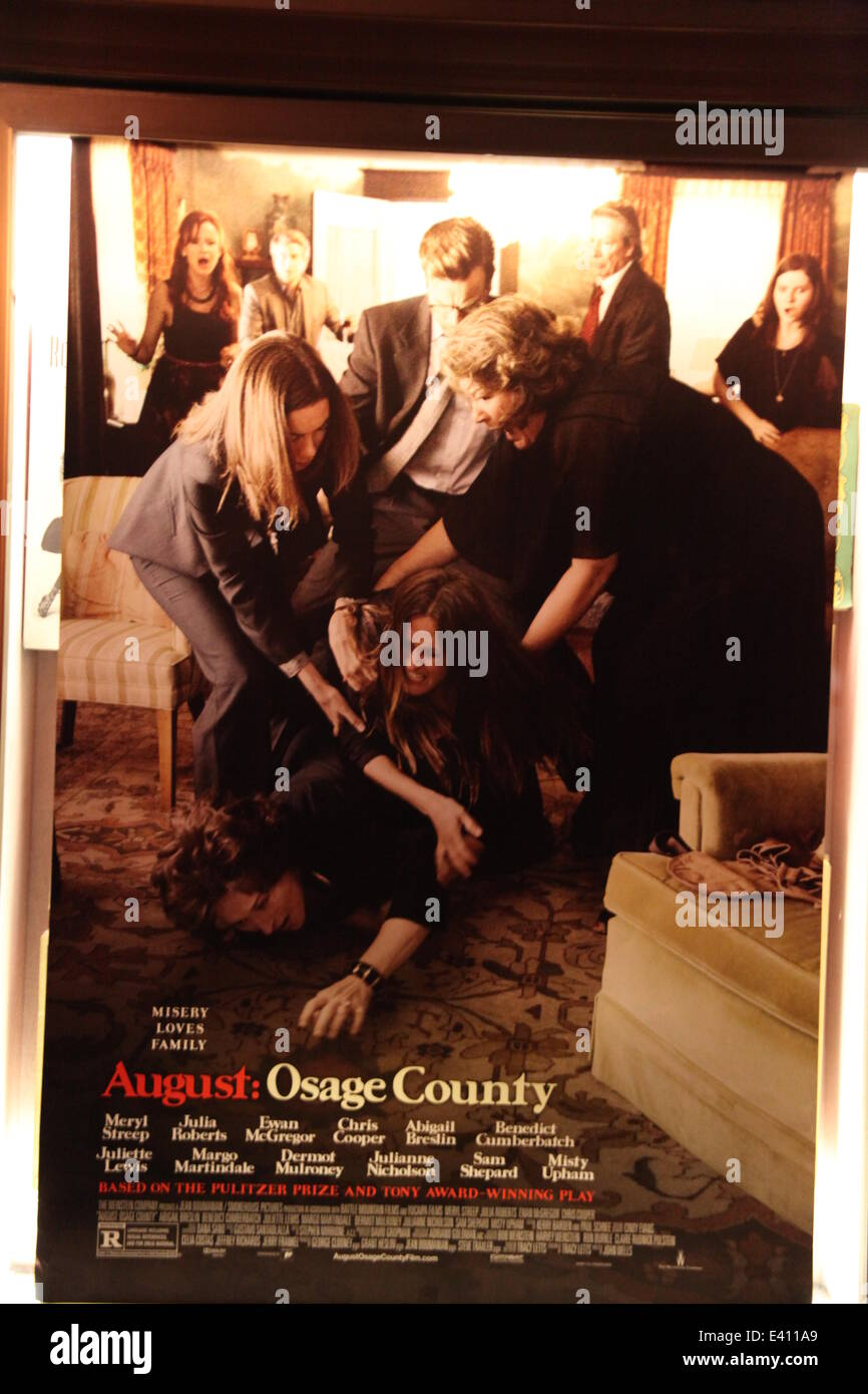The New York Premiere Of August Osage County At The Ziegfeld Theater Stock Photo Alamy