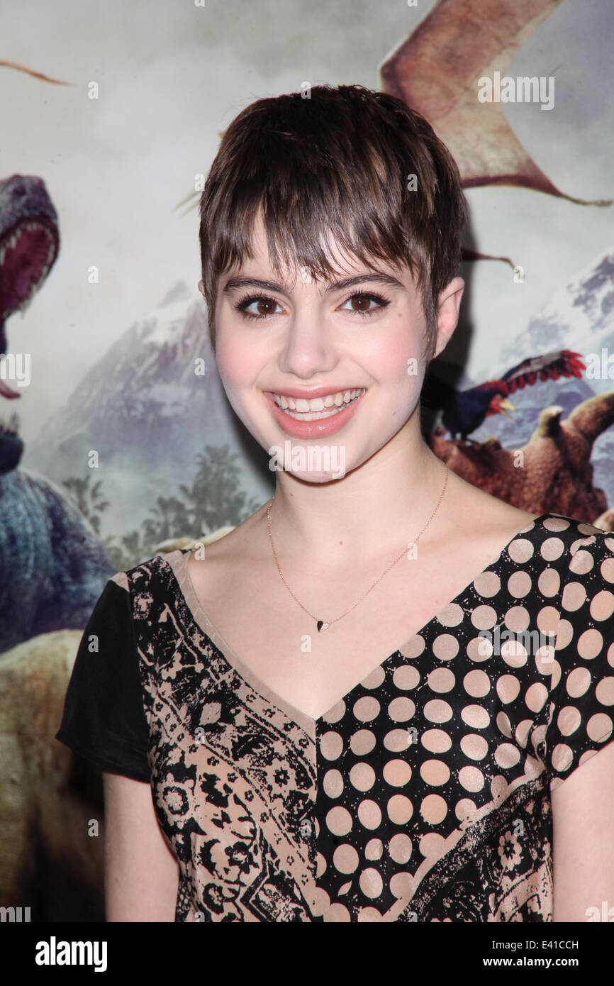 Walking With Dinosaurs Premiere at Cinema 1,2,3, 1001 3rd Ave  Featuring: Sami Gayle Where: NYC, New York, United - Stock Image