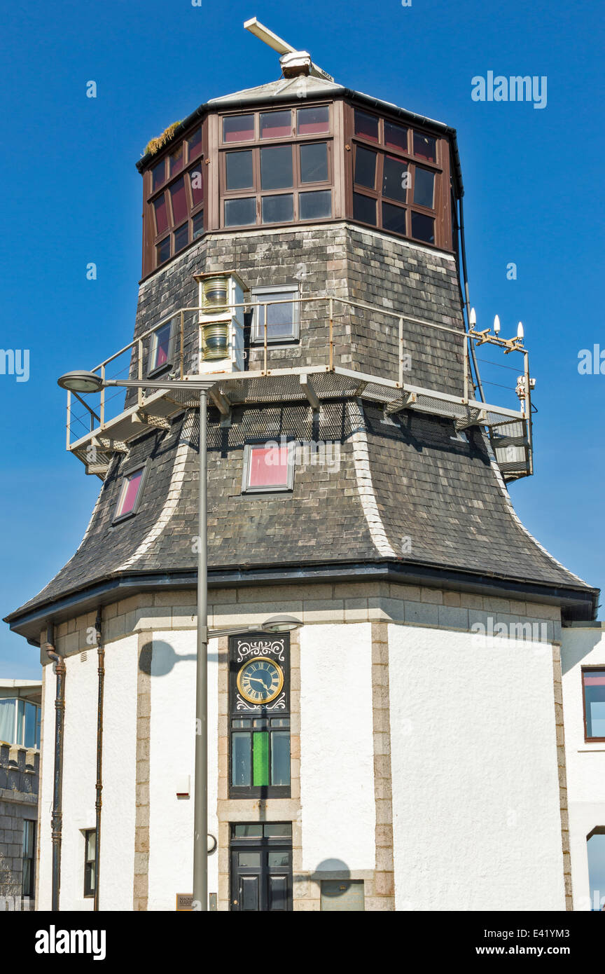 OLD ROUNDHOUSE IN FOOTDEE ON THE NORTH PIER ABERDEEN HARBOUR SCOTLAND - Stock Image