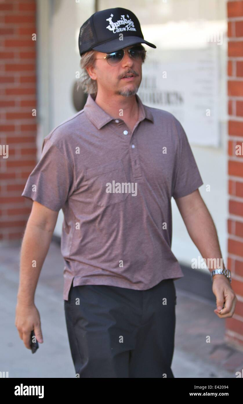 David Spade wears a Jumbos Clown Room hat that is a Dive Bar ...