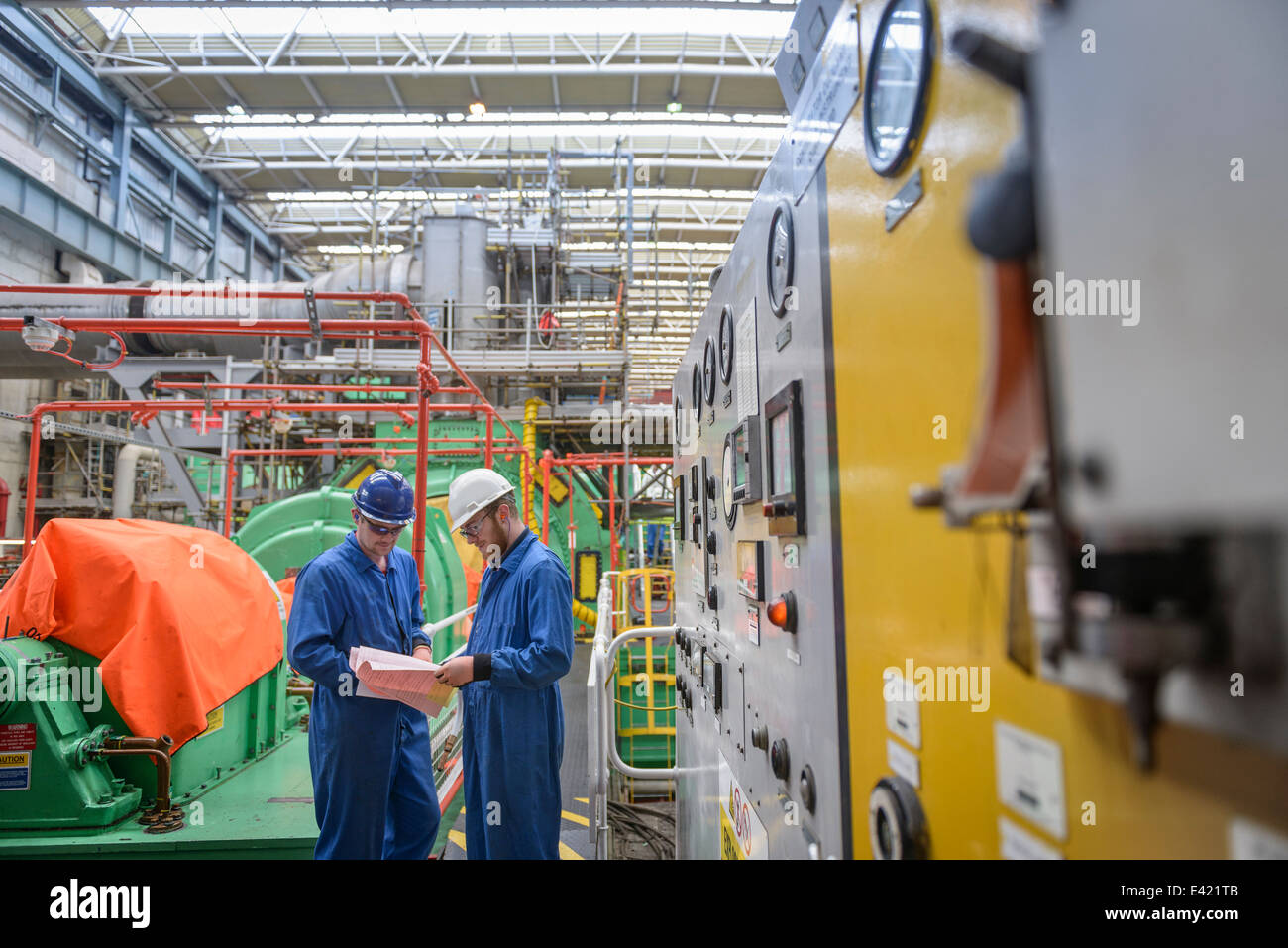 Networking Equipment Stock Photos 26416electricpanelpanelwiringjpg Engineers Discussing Paperwork During Power Station Outage Image
