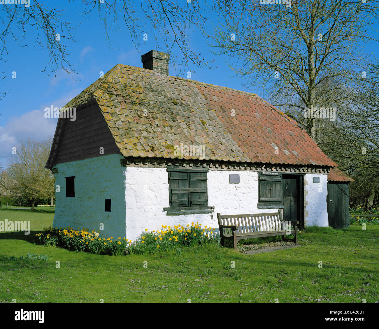 Thriplow smithy Cambridgeshire in springtime - Stock Image