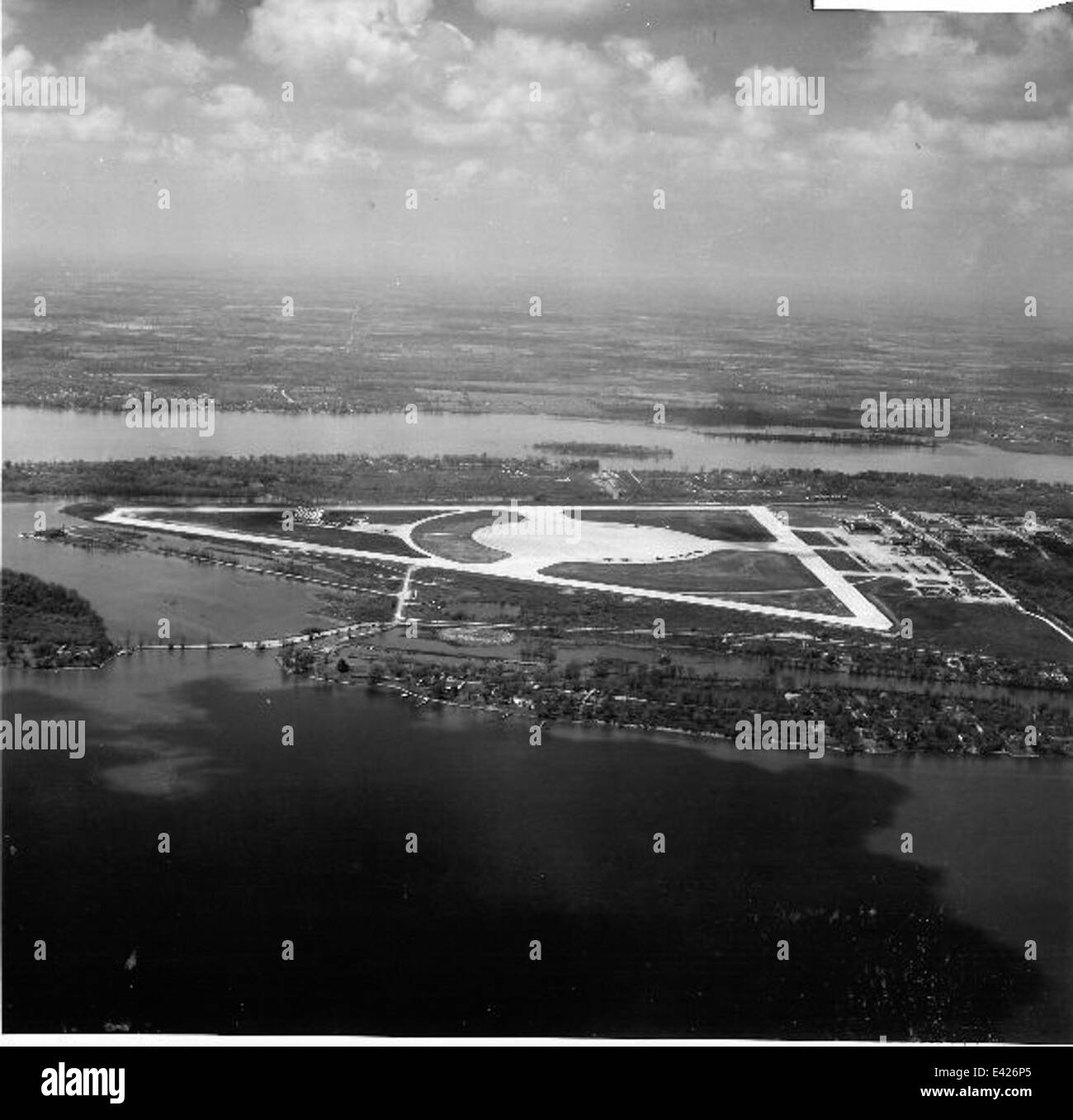 NAS Grosse Ille 1954 - Stock Image