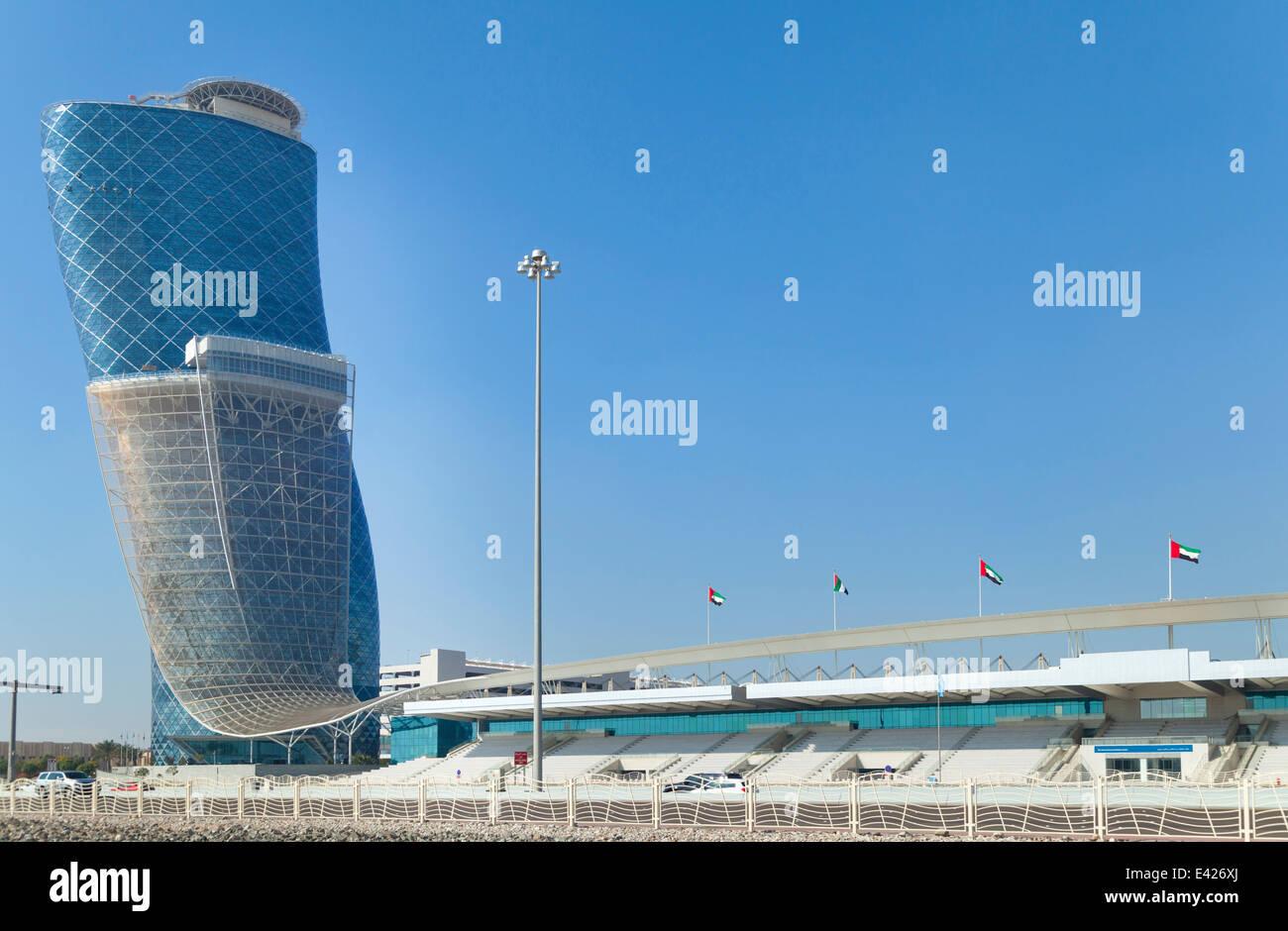 Abu Dhabi National Exhibitions Center, United Arab Emirates Stock Photo
