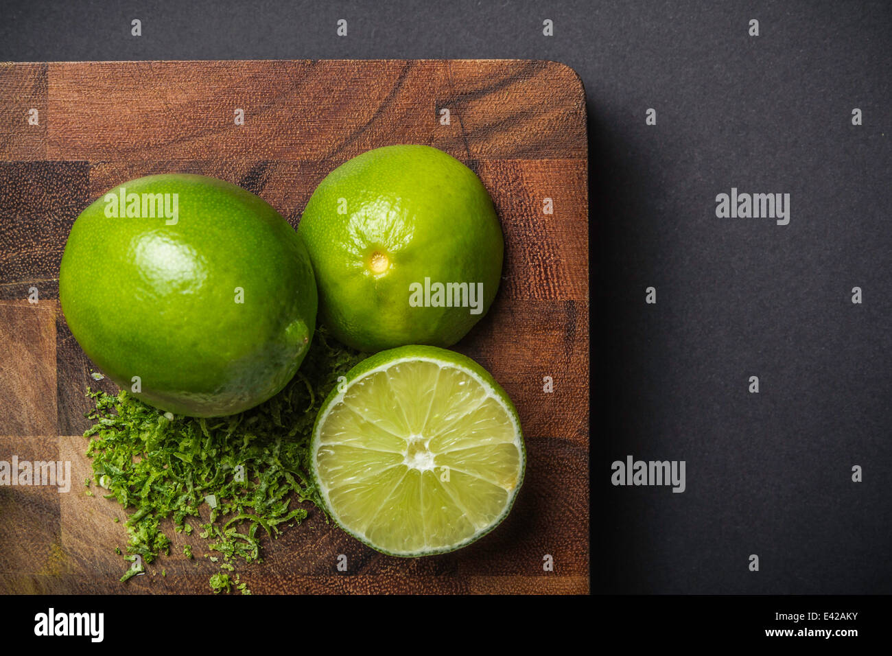 Ingredient for making green curry paste - lime - Stock Image