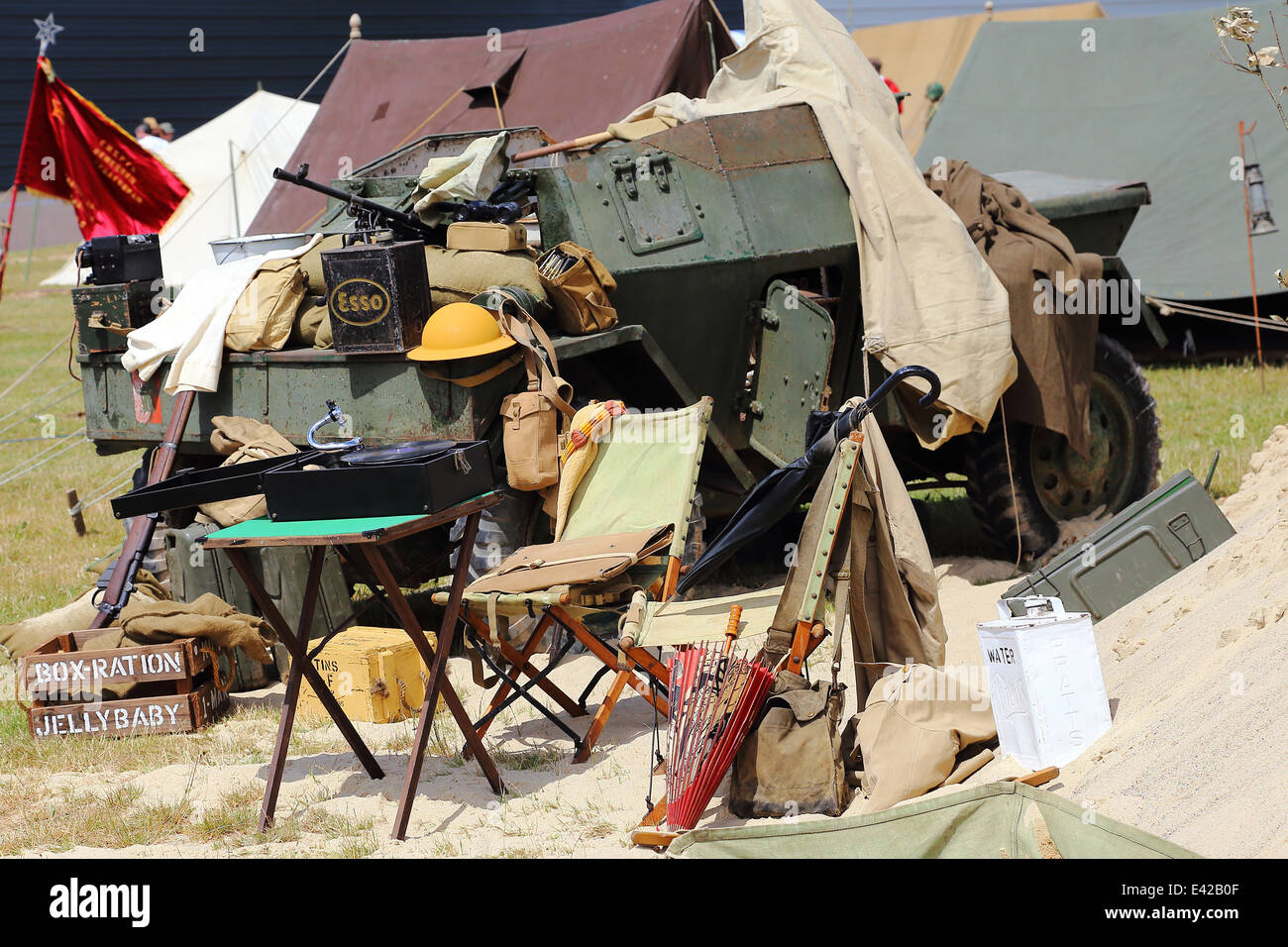 War display at Tankfest in Tank Museum in Bovington, Dorset, England - Stock Image