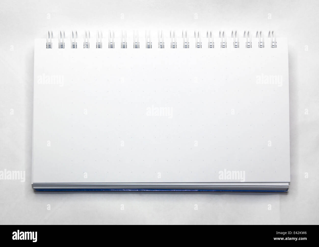 Blank realistic spiral notepad notebook on white - Stock Image