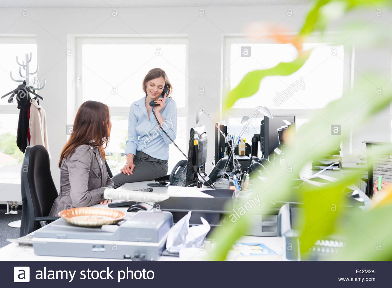 Female office workers in office - Stock Image