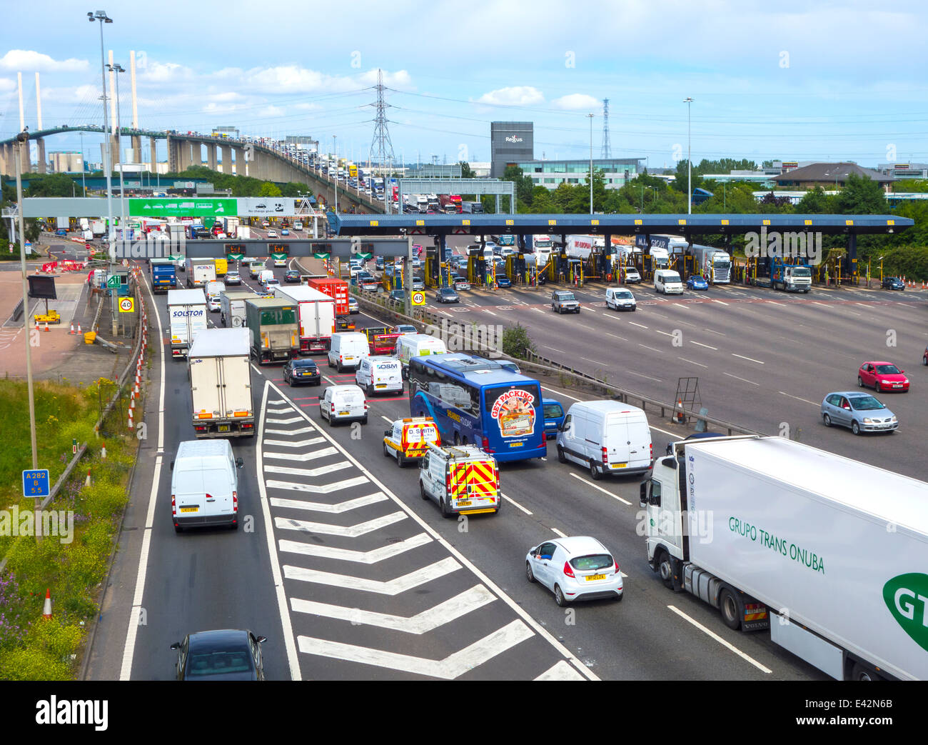 Dartford crossing tolls Stock Photo