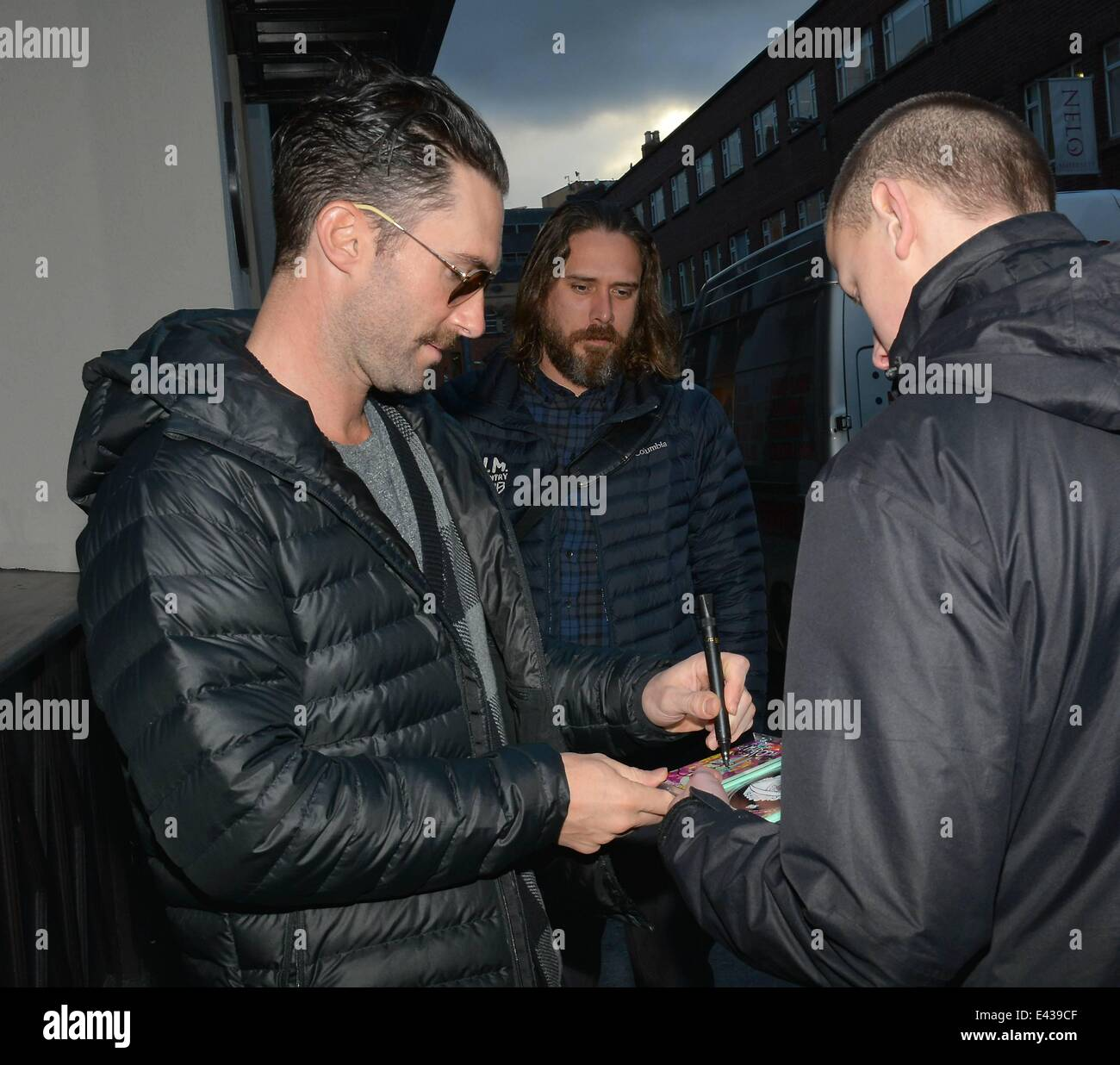 Adam levine and other members of maroon 5 meet fans outside their adam levine and other members of maroon 5 meet fans outside their hotel on their way to their concert at the o2 featuring adam levinemaroon 5 where m4hsunfo